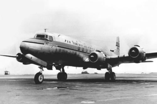 Douglas DC-6 NC28335 Panagra at 'drome Limatambo Peru ca.'47